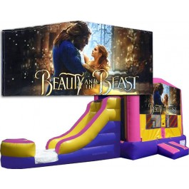 (C) Beauty and the Beast Bounce Slide combo (Wet or Dry)