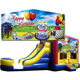 (C) Happy Birthday Bounce Slide combo (Wet or Dry)