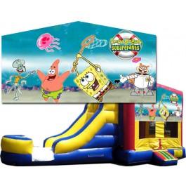 (C) Sponge Bob Bounce Slide combo (Wet or Dry)