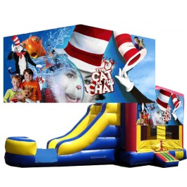 (C) Cat in the hat Bounce Slide combo (Wet or Dry)