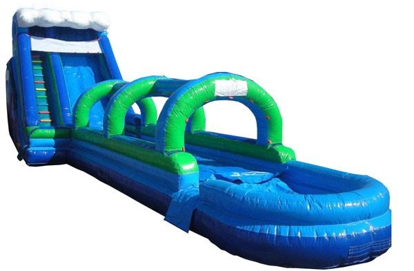 (D) 24ft Giant Slide 2pc Wave top