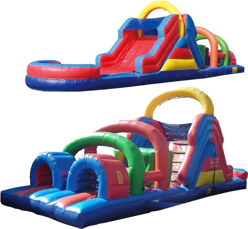 40ft Wet Obstacle Course w/12ft slide