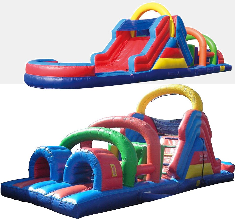 (B) 40ft Dry Obstacle Course w/12ft slide