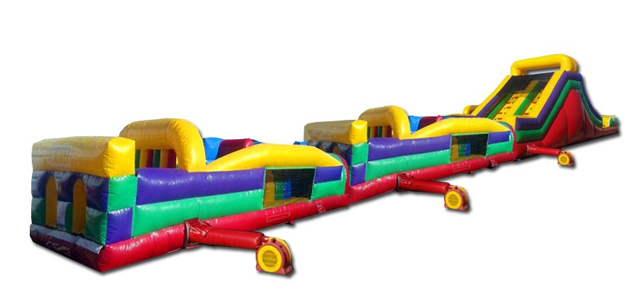 (B) 95ft Dry Mega Obstacle Course w/16ft slide