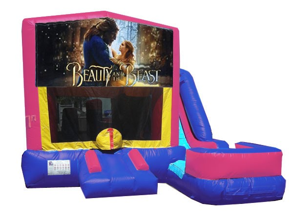 (C) Beauty and the Beast 7N1 Bounce Slide combo (Wet or Dry)