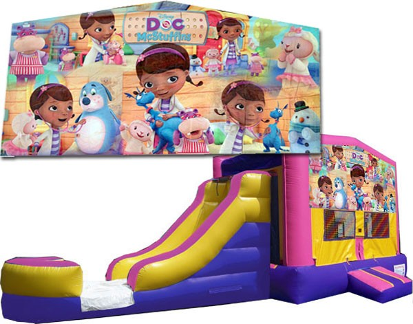 (C) Doc McStuffins Bounce Slide combo (Wet or Dry)