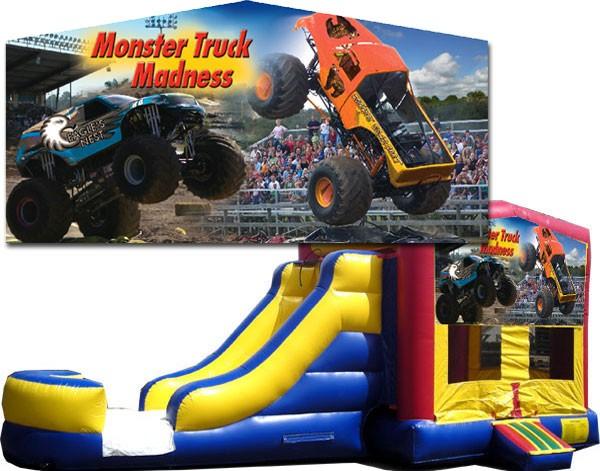 (C) Monster Truck Banner Bounce Slide combo (Wet or Dry)
