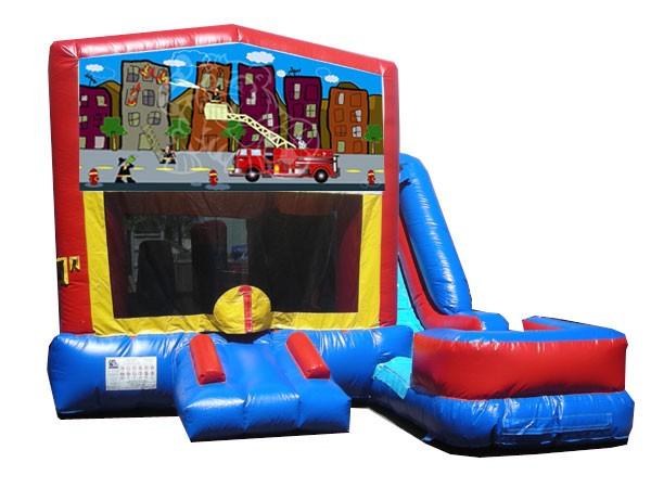 (C) Fire Truck 7n1 Bounce Slide combo (Wet or Dry)