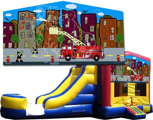 (C) Fire Truck Bounce Slide combo