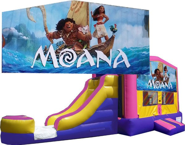 (C) Moana Bounce Slide combo (Wet or Dry)