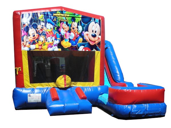 (C) Mickey & Friends 7N1 Bounce Slide combo (Wet or Dry)