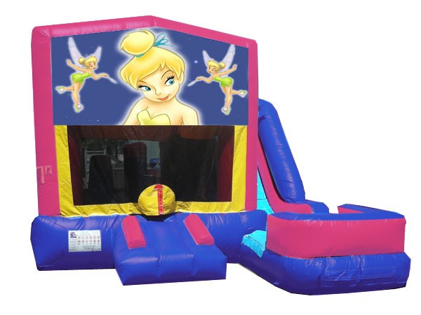 (C) Tinker Bell 7N1 Bounce Slide combo (Wet or Dry)