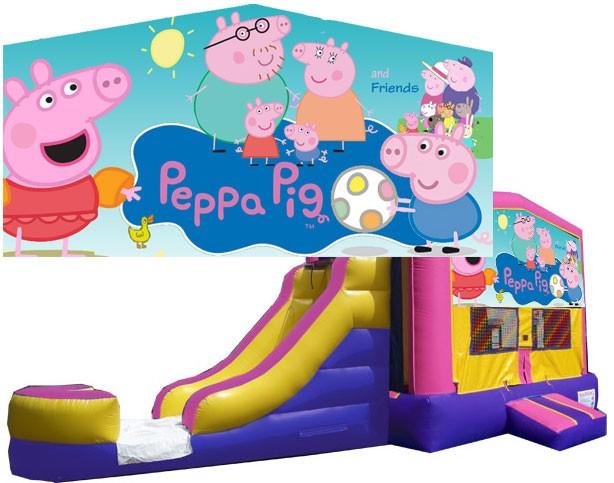 (C) Peppa Pig Bounce Slide combo (Wet or Dry)