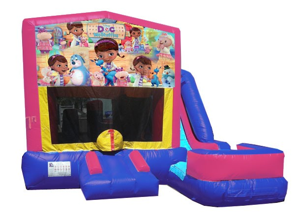 (C) Doc McStuffins 7n1 Bounce Slide combo (Wet or Dry)