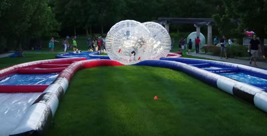 (D) 2 Zorb Balls with Track