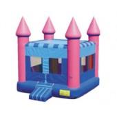 (A)  Pink Flatroof Castle Moonwalk