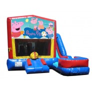 (C) Peppa Pig 7N1 Bounce Slide combo (Wet or Dry)