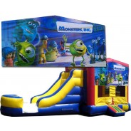 (C) Monsters Inc Bounce Slide combo (Wet or Dry)