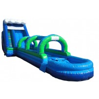 (D) 24ft Giant Slide 2pc Wave top