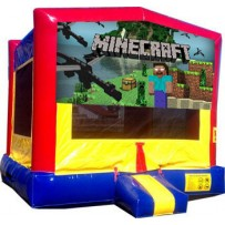 minecraft moonwalk bounce house