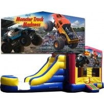 (C) Monster Truck Banner Bounce Slide combo (Wet or Dry)