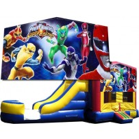(C) Power Rangers Bounce Slide combo (Wet or Dry)