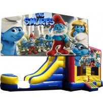 (C) Smurfs Bounce Slide combo (Wet or Dry)