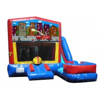 (C) Fire Truck 7n1 Bounce Slide combo (Wet or Dry)