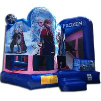 (C) Frozen Bounce Slide combo 5 n 1(Wet or Dry)