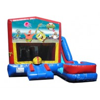 (C) Sponge Bob 7N1 Bounce Slide combo (Wet or Dry)