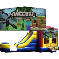 minecraft bounce house moonwalk combo slide
