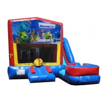 (C) Monsters Inc 7N1 Bounce Slide combo (Wet or Dry)