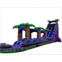 (D) 27ft Royal Purple Tropical Water Slide