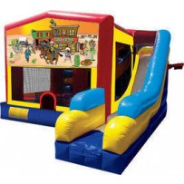 (C) Western Fun Bounce Slide combo