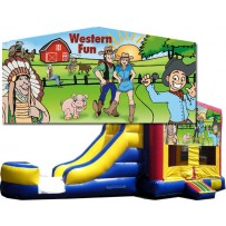 (C) Western Fun Bounce Slide combo (Wet or Dry)